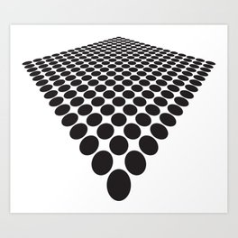 BLACK DOTS ON A WHITE BACKGROUND Abstract Art Art Print