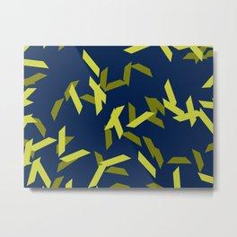 random trapezoids pattern_navy Metal Print