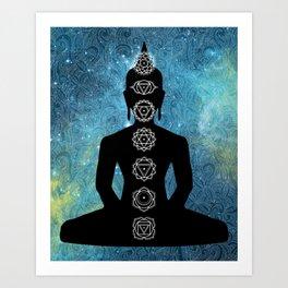Sacred Geometry - Chakras Aligned Art Print