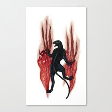 BLACK PANTHER SCRATCH Canvas Print