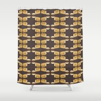 bread Shower Curtains featuring bread by Jaeyun Woo