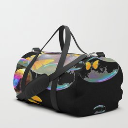 SURREAL GOLDEN YELLOW BUTTERFLIES  & SOAP BUBBLES Duffle Bag