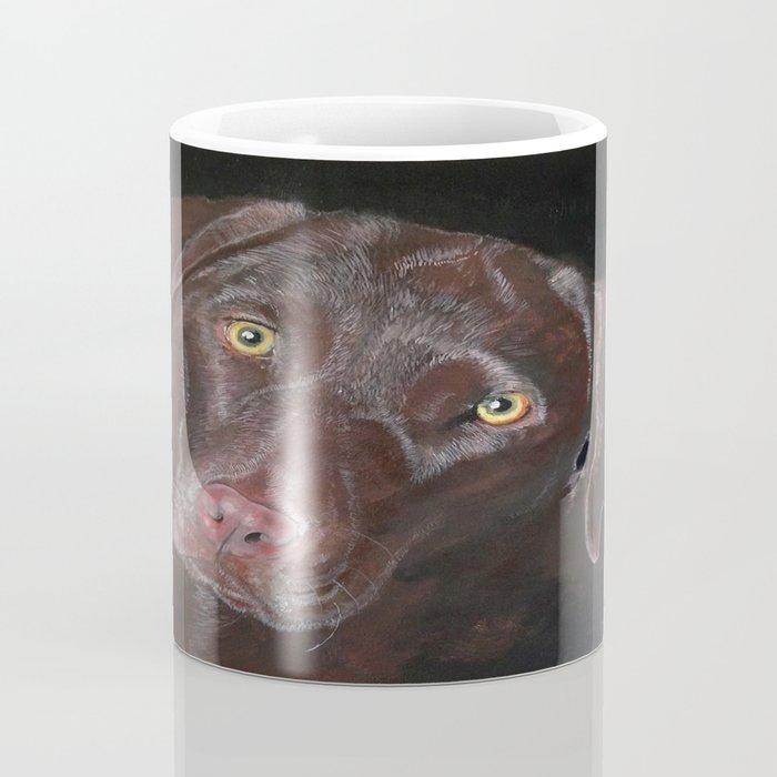 Inquisitive Chocolate Labrador Coffee Mug