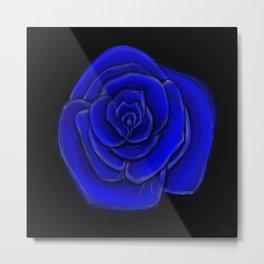 Cobalt Blossom Metal Print