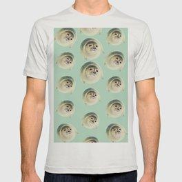 aqua green underwater cute baby sea lion seal T-shirt