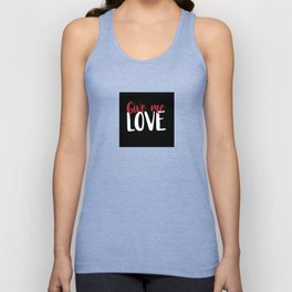 Give me Love Black Square Unisex Tank Top