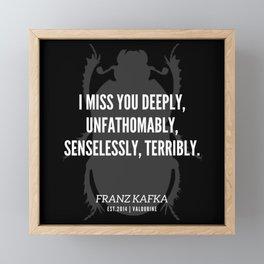42   |  Franz Kafka Quotes | 190517 Framed Mini Art Print