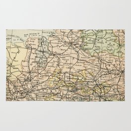 Old and Vintage Map of Germany Outline Rug