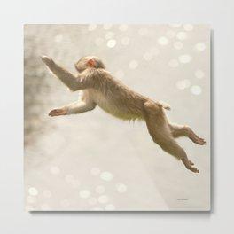 Monkey Jump Metal Print