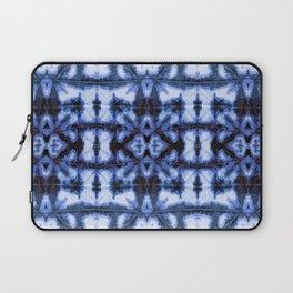 Blue Oxford Shibori Laptop Sleeve