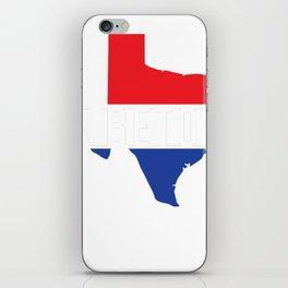 Beto Texas Red White Blue Patriotic T-Shirt For US Senate Senator Democrat Turn Texas Blue Democratic Party iPhone Skin