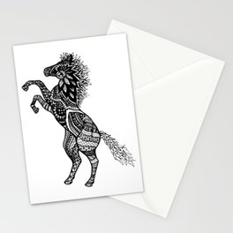 Rearing Horse Zentangle (abstract doodle) Stationery Cards