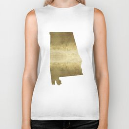 alabama gold foil state map Biker Tank