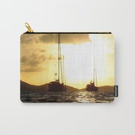 Watercolor People in Nature, NSS, Sailboat 09, St John, USVI Carry-All Pouch