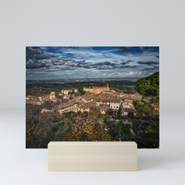 Landscape in the Tuscan hillside town of San Gimignano Mini Art Print