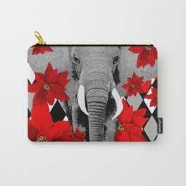 POINSETTIAS ELEPHANTS AND HARLEQUINS OH MY Carry-All Pouch