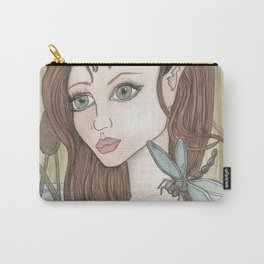 Fairy, Dragonfly, Lily Carry-All Pouch