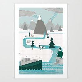 I like water Art Print