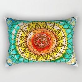 OM - Chakra Mandala - Rainbow - Charm Rectangular Pillow