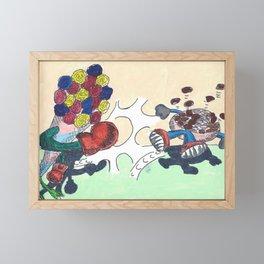 Flowers Versus Chocolate Framed Mini Art Print