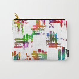 Rainbow brush on white Carry-All Pouch