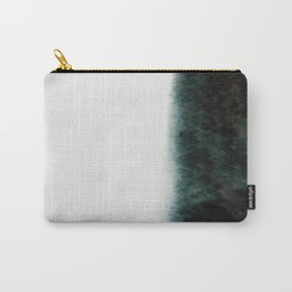 Misty Pine Forest Minimalist Foggy Landscape Photography Carry-All Pouch