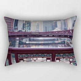 Chicago River Walk Rectangular Pillow