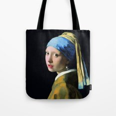 Vermeer - Girl with a Pearl Earring Tote Bag