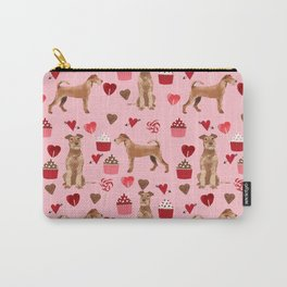 Irish Terrier dog breed valentines day love hearts pet gifts must have terriers Carry-All Pouch