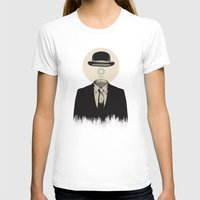 magritte T-shirts featuring Magritte | The Loading of Man by Gabriel Mihai | SnakeBishop