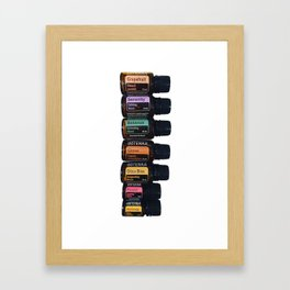 Essential oils holistic Framed Art Print