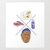 big poppa Art Prints featuring Big POPPA by Chan Harley