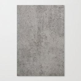 Grey Concrete Canvas Print