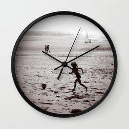 Foot on the beach Wall Clock