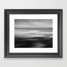 The waves dance Framed Art Print