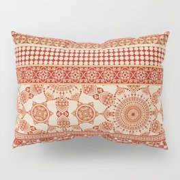 Ornate Moroccan in Red Pillow Sham
