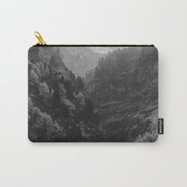 Between The Mountains (Black and White) Carry-All Pouch