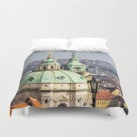 prague Duvet Covers featuring Prague by Veronika