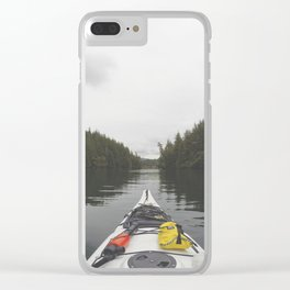Live the Kayak Life Clear iPhone Case
