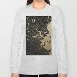 Boston Gold and Black Invert Long Sleeve T-shirt