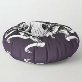 The Skull the Flowers and the Snail Floor Pillow