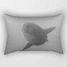 Mola mola sunfish in B&W Rectangular Pillow