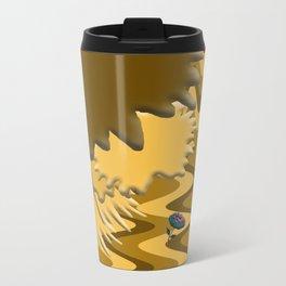 Shades of Brown Waves Metal Travel Mug
