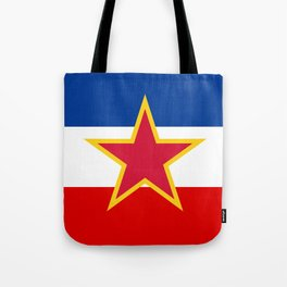 Yugoslavia National Flag Tote Bag