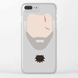 Minimalist Geralt of Rivea - The Witcher Clear iPhone Case