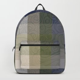 Chambray Fiord Swirly Plaid Backpack