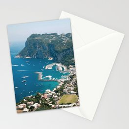 Italy, Capri Landscape View Stationery Cards