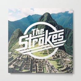 The Strokes Logo Machu Picchu Metal Print