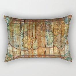 Antique World Rectangular Pillow