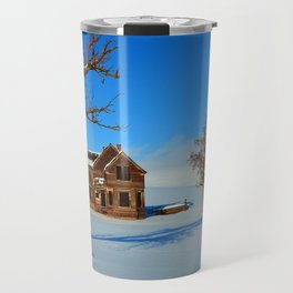 Old Nelson House In The Winter Of 2017 Travel Mug